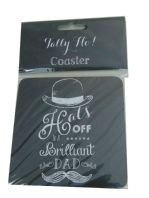 TALLY HO HATS OFF TO A BRILLIANT DAD COASTER  GREAT GIFT FOR DAD..